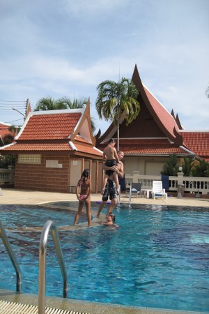 The pool was used a lot during the schoolbreaks